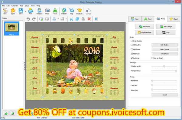 Get Photo Calendar Creator PRO with discount