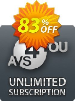 AVS4YOU Unlimited Subscription Coupon, discount . Promotion: AVS4U Autumn Sale for Couponism (Before Code: F3F4DCF0)