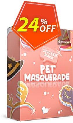 Movavi effect: Pet Masquerade Sticker Pack Coupon, discount Pet Masquerade Sticker Pack Staggering discount code 2020. Promotion: Staggering discount code of Pet Masquerade Sticker Pack 2020