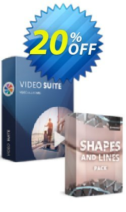 Movavi Bundle: Video Suite + Shapes and Lines Pack Coupon discount 20% OFF Movavi Bundle: Video Suite + Shapes and Lines Pack, verified - Excellent promo code of Movavi Bundle: Video Suite + Shapes and Lines Pack, tested & approved