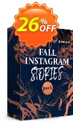 Movavi effect: Fall Instagram Stories Pack Coupon, discount Fall Instagram Stories Pack Exclusive discounts code 2021. Promotion: Exclusive discounts code of Fall Instagram Stories Pack 2021