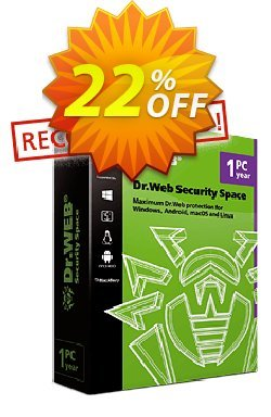 Dr.Web Security Space Coupon, discount Home products (Dr.Web Security Space)+Free protection for mobile device! wonderful deals code 2021. Promotion: Dr.Web coupon, Dr.Web Security Space coupon code