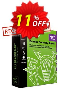 Dr.Web Security Space coupon for renewal Coupon, discount Home products (Dr.Web Security Space), License renewal super deals code 2019. Promotion: super deals code of Home products (Dr.Web Security Space), License renewal 2019