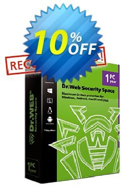 Dr.Web Security Space - without support  Coupon, discount Dr.Web Security Space without technical support big sales code 2019. Promotion: big sales code of Dr.Web Security Space without technical support 2019