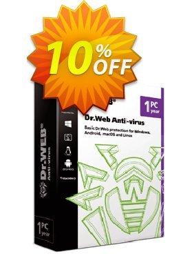 Dr.Web Anti-Virus - without Tech support  Coupon, discount Dr.Web Anti-Virus without technical support wonderful discounts code 2021. Promotion: wonderful discounts code of Dr.Web Anti-Virus without technical support 2021