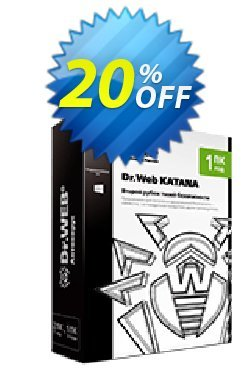 Dr.Web KATANA - 3 Years License  Coupon, discount 20% OFF Dr.Web KATANA, verified. Promotion: Wondrous promotions code of Dr.Web KATANA, tested & approved
