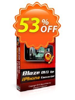 BlazeVideo DVD to iPhone Converter Coupon, discount Save 50% Off. Promotion: super promo code of BlazeVideo DVD to iPhone Converter 2020