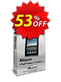 BlazeVideo iPad Video Converter Coupon, discount Save 50% Off. Promotion: big promotions code of BlazeVideo iPad Video Converter 2020