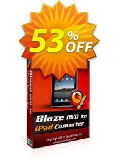 BlazeVideo DVD to iPad Converter Coupon, discount Save 50% Off. Promotion: hottest sales code of BlazeVideo DVD to iPad Converter 2020