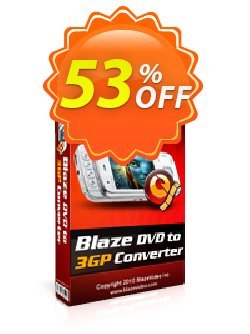 BlazeVideo DVD to 3GP Converter Coupon, discount Save 50% Off. Promotion: exclusive offer code of BlazeVideo DVD to 3GP Converter 2020
