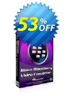 BlazeVideo BlackBerry Video Converter Coupon, discount Save 50% Off. Promotion: staggering sales code of BlazeVideo BlackBerry Video Converter 2020