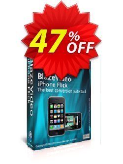 BlazeVideo iPhone Flick Coupon, discount Save 45% Off. Promotion: staggering promo code of BlazeVideo iPhone Flick 2020