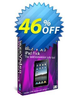 BlazeVideo iPad Flick Coupon, discount Save 45% Off. Promotion: stirring promotions code of BlazeVideo iPad Flick 2020