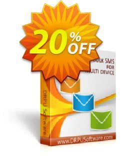 DRPU Bulk SMS Software - Multi-Device Edition  Coupon discount Wide-site discount 2021 DRPU Bulk SMS Software (Multi-Device Edition). Promotion: awesome promotions code of DRPU Bulk SMS Software (Multi-Device Edition) 2021