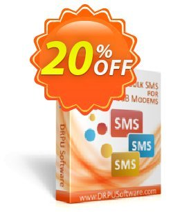 DRPU Bulk SMS Software - Multi USB Modem Coupon discount Wide-site discount 2021 DRPU Bulk SMS Software - Multi USB Modem. Promotion: amazing deals code of DRPU Bulk SMS Software - Multi USB Modem 2021