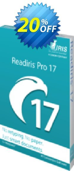 Readiris Pro 17 Coupon discount Readiris Pro 17 for Windows (PDF and OCR Software) marvelous discounts code 2020 - marvelous discounts code of Readiris Pro 17 for Windows (PDF and OCR Software) 2020