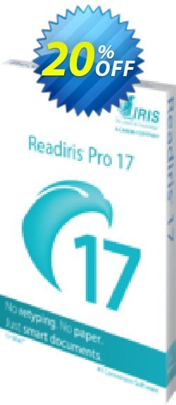 Readiris Pro 17 for Mac Coupon, discount Readiris Pro 17 for Mac (OCR & PDF Software) wondrous promotions code 2020. Promotion: wondrous promotions code of Readiris Pro 17 for Mac (OCR & PDF Software) 2020