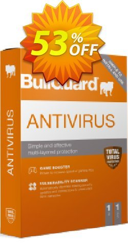 BullGuard 2018 Antivirus - 1 year / 1 PC Coupon, discount BullGuard 2020 Antivirus 1-Year 1-PC at USD$19.95 marvelous offer code 2020. Promotion: marvelous offer code of BullGuard 2020 Antivirus 1-Year 1-PC at USD$19.95 2020