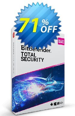 Bitdefender Total Security 2021 - 1 year, 5 Device  Coupon, discount 70% OFF Bitdefender Total Security 2021 (1 year, 5 Device), verified. Promotion: Awesome promo code of Bitdefender Total Security 2021 (1 year, 5 Device), tested & approved