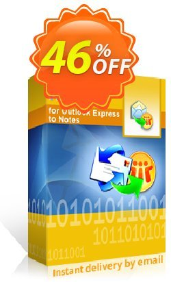 Kernel for Outlook Express to Notes - Corporate License Coupon discount Kernel for Outlook Express to Notes - Corporate License staggering discount code 2021. Promotion: staggering discount code of Kernel for Outlook Express to Notes - Corporate License 2021