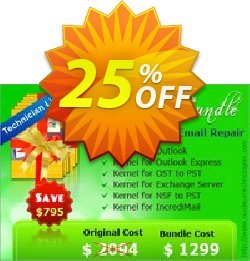 Bundle Complete Kernel Email Repair Coupon, discount Complete Kernel Email Repair - Technician License best promo code 2021. Promotion: best promo code of Complete Kernel Email Repair - Technician License 2021