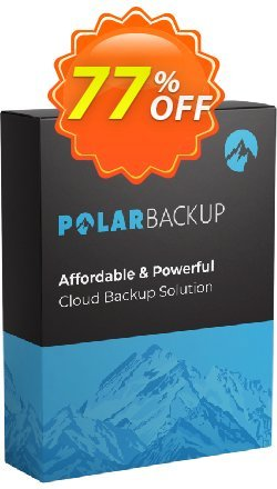Polar Backup 2 TB - Lifetime  Coupon discount 92% OFF PolarBackup 2 TB (Lifetime) Dec 2019. Promotion: Fearsome deals code of PolarBackup 2 TB (Lifetime), tested in December 2019