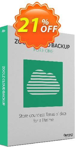 Zoolz Cloud Home 5TB +  Genie Timeline Home Coupon discount Zoolz Home Cloud 500 GB With 500 GB Instant Vault- LIFETIME (Special Offer) stunning discount code 2021 - stunning discount code of Zoolz Home Cloud 500 GB With 500 GB Instant Vault- LIFETIME (Special Offer) 2021