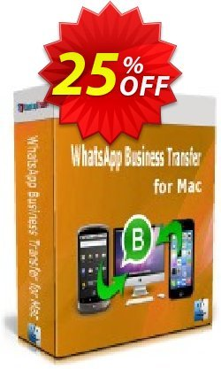 Backuptrans WhatsApp Business Transfer for Mac Coupon discount 22% OFF Backuptrans WhatsApp Business Transfer for Mac, verified. Promotion: Special promotions code of Backuptrans WhatsApp Business Transfer for Mac, tested & approved