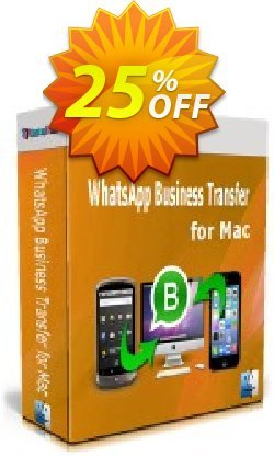 Backuptrans WhatsApp Business Transfer for Mac - Business Edition  Coupon discount 10% OFF Backuptrans WhatsApp Business Transfer for Mac (Business Edition), verified - Special promotions code of Backuptrans WhatsApp Business Transfer for Mac (Business Edition), tested & approved