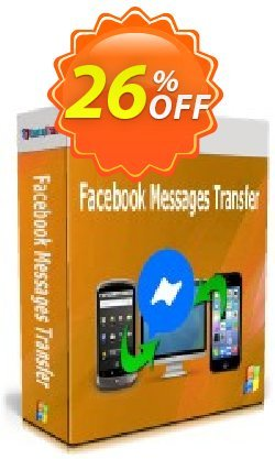 Backuptrans Facebook Messages Transfer Coupon discount 22% OFF Backuptrans Facebook Messages Transfer, verified. Promotion: Special promotions code of Backuptrans Facebook Messages Transfer, tested & approved
