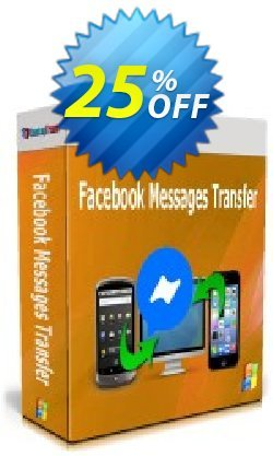 Backuptrans Facebook Messages Transfer - Business Edition  Coupon discount 10% OFF Backuptrans Facebook Messages Transfer (Business Edition), verified. Promotion: Special promotions code of Backuptrans Facebook Messages Transfer (Business Edition), tested & approved