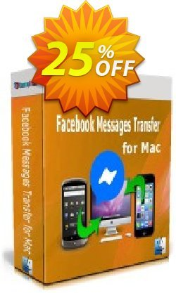 Backuptrans Facebook Messages Transfer for Mac - Family Edition  Coupon discount 10% OFF Backuptrans Facebook Messages Transfer for Mac (Family Edition), verified. Promotion: Special promotions code of Backuptrans Facebook Messages Transfer for Mac (Family Edition), tested & approved
