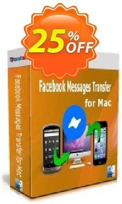 Backuptrans Facebook Messages Transfer for Mac - Business Edition  Coupon discount 10% OFF Backuptrans Facebook Messages Transfer for Mac (Business Edition), verified - Special promotions code of Backuptrans Facebook Messages Transfer for Mac (Business Edition), tested & approved