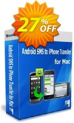 Backuptrans Android SMS to iPhone Transfer for Mac Coupon, discount Backuptrans Android SMS to iPhone Transfer for Mac (Personal Edition) staggering deals code 2021. Promotion: stunning sales code of Backuptrans Android SMS to iPhone Transfer for Mac (Personal Edition) 2021