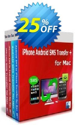 Backuptrans iPhone Android SMS Transfer + for Mac Coupon, discount Holiday Deals. Promotion: impressive promo code of Backuptrans iPhone Android SMS Transfer + for Mac (Personal Edition) 2021