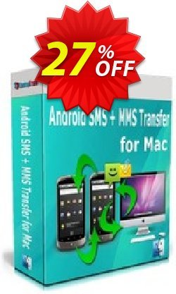 Backuptrans Android SMS + MMS Transfer for Mac - Family Edition  Coupon, discount Holiday Deals. Promotion: wondrous discount code of Backuptrans Android SMS + MMS Transfer for Mac (Family Edition) 2021