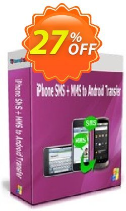 Backuptrans iPhone SMS + MMS to Android Transfer Coupon, discount Holiday Deals. Promotion: awful discounts code of Backuptrans iPhone SMS + MMS to Android Transfer (Personal Edition) 2021
