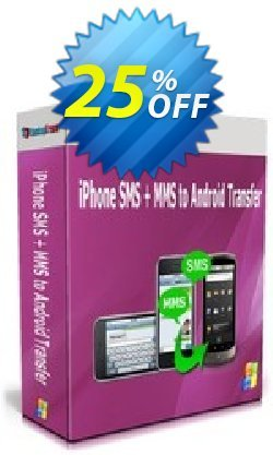 Backuptrans iPhone SMS + MMS to Android Transfer - Family Edition  Coupon, discount Holiday Deals. Promotion: amazing promotions code of Backuptrans iPhone SMS + MMS to Android Transfer (Family Edition) 2021