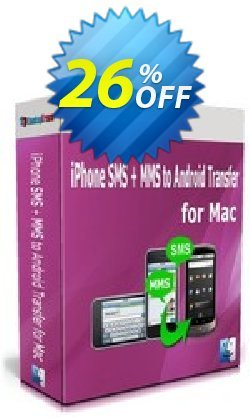 Backuptrans iPhone SMS + MMS to Android Transfer for Mac Coupon, discount Holiday Deals. Promotion: best deals code of Backuptrans iPhone SMS + MMS to Android Transfer for Mac (Personal Edition) 2021