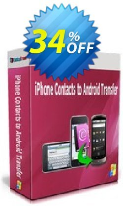 Backuptrans iPhone Contacts to Android Transfer Coupon, discount Backuptrans iPhone Contacts to Android Transfer (Personal Edition) awful deals code 2021. Promotion: wondrous sales code of Backuptrans iPhone Contacts to Android Transfer (Personal Edition) 2021