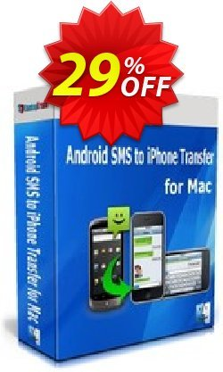 Backuptrans Android SMS to iPhone Transfer for Mac - One-Time Usage  Coupon discount Backuptrans Android SMS to iPhone Transfer for Mac (One-Time Usage) awful deals code 2021. Promotion: wondrous sales code of Backuptrans Android SMS to iPhone Transfer for Mac (One-Time Usage) 2021