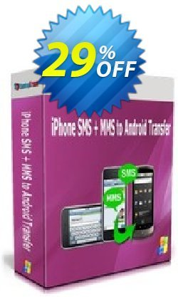 Backuptrans iPhone SMS + MMS to Android Transfer - One-Time Usage  Coupon, discount Holiday Deals. Promotion: awful deals code of Backuptrans iPhone SMS + MMS to Android Transfer (One-Time Usage) 2021