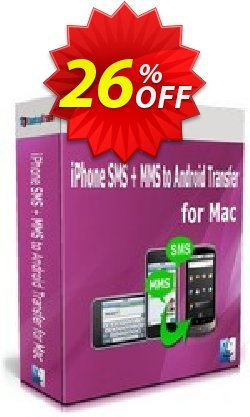 Backuptrans iPhone SMS + MMS to Android Transfer for Mac - One-Time Usage  Coupon, discount Discount. Promotion: awful offer code of Backuptrans iPhone SMS + MMS to Android Transfer for Mac (One-Time Usage) 2021