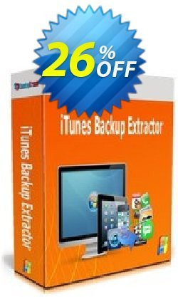 Backuptrans iTunes Backup Extractor Coupon, discount Backuptrans iTunes Backup Extractor (Personal Edition) awesome promotions code 2021. Promotion: exclusive discounts code of Backuptrans iTunes Backup Extractor (Personal Edition) 2021