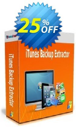 Backuptrans iTunes Backup Extractor - Business Edition  Coupon, discount Backuptrans iTunes Backup Extractor (Business Edition) amazing deals code 2021. Promotion: wonderful sales code of Backuptrans iTunes Backup Extractor (Business Edition) 2021