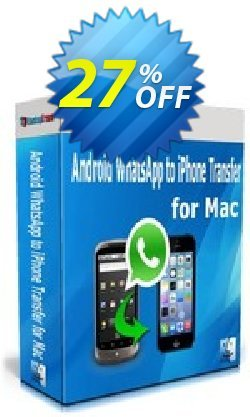Backuptrans Android WhatsApp to iPhone Transfer for Mac Coupon, discount Backuptrans Android WhatsApp to iPhone Transfer for Mac (Personal Edition) awful promotions code 2021. Promotion: wondrous discounts code of Backuptrans Android WhatsApp to iPhone Transfer for Mac (Personal Edition) 2021