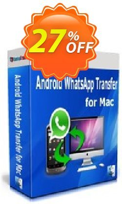 Backuptrans Android WhatsApp Transfer for Mac Coupon, discount Backuptrans Android WhatsApp Transfer for Mac(Personal Edition) amazing discounts code 2021. Promotion: wonderful promo code of Backuptrans Android WhatsApp Transfer for Mac(Personal Edition) 2021