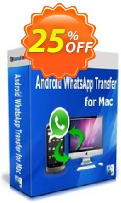 Backuptrans Android WhatsApp Transfer for Mac - Family Edition  Coupon discount Backuptrans Android WhatsApp Transfer for Mac(Family Edition) stunning promotions code 2021. Promotion: amazing discounts code of Backuptrans Android WhatsApp Transfer for Mac(Family Edition) 2021