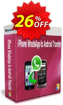 Backuptrans iPhone WhatsApp to Android Transfer - Family Edition  Coupon, discount Backuptrans iPhone WhatsApp to Android Transfer(Family Edition) stirring offer code 2021. Promotion: imposing deals code of Backuptrans iPhone WhatsApp to Android Transfer(Family Edition) 2021