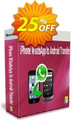 Backuptrans iPhone WhatsApp to Android Transfer - Business Edition  Coupon discount Backuptrans iPhone WhatsApp to Android Transfer(Business Edition) impressive discount code 2021. Promotion: stirring offer code of Backuptrans iPhone WhatsApp to Android Transfer(Business Edition) 2021